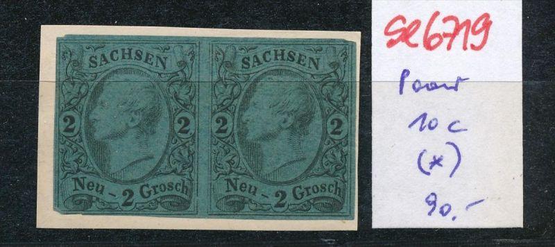 Sachsen Nr.   Paar 10 c  (*)  (se6719  ) siehe scan !