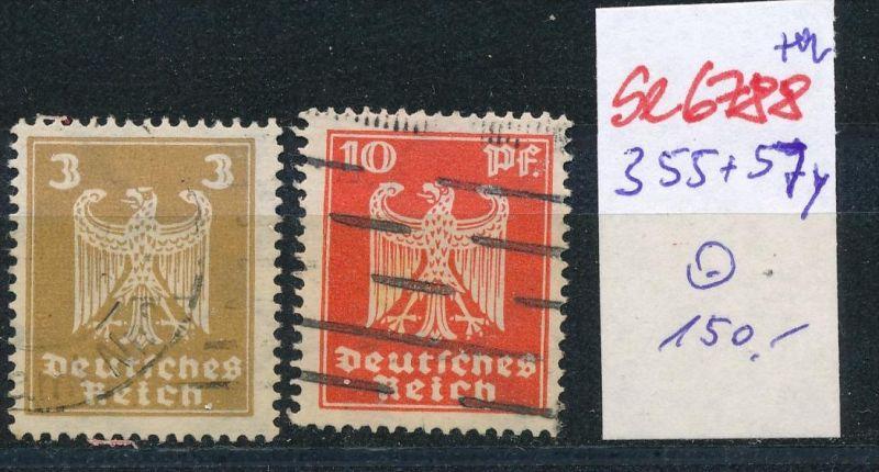 D.-Reich Nr. 355+57 Y    o  (se6788 ) siehe scan !