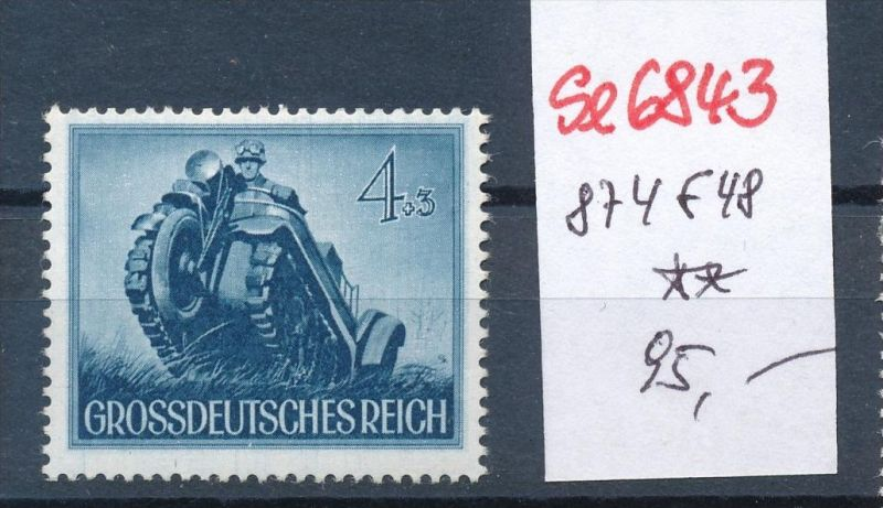 D.-Reich Nr. 874 f19**  (se6843 ) siehe scan !