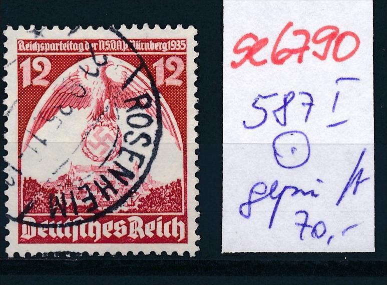 D-Reich Nr.  587  I  geprüft o  (se6790 ) siehe scan !