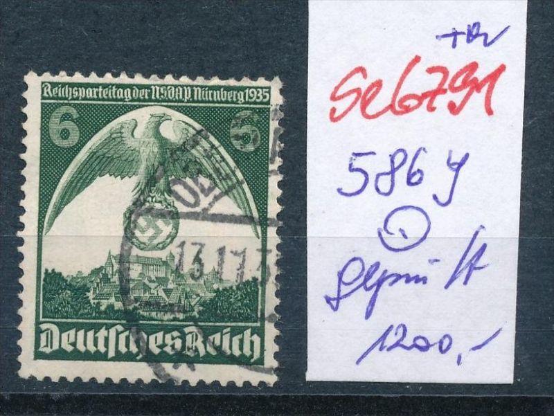 D-Reich Nr.  586 Y  geprüft o  (se6791 ) siehe scan !