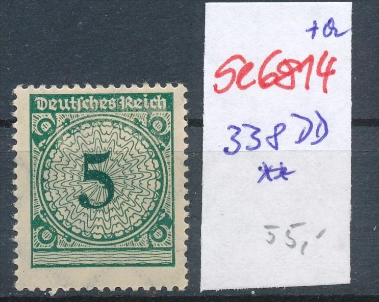 D.-Reich Nr. 338 DD ** (se6814 ) siehe scan !