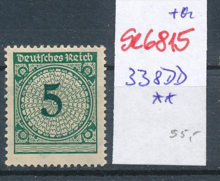 D.-Reich Nr. 338 DD ** (se6815 ) siehe scan !