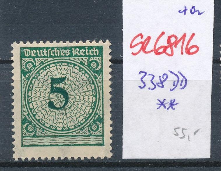 D.-Reich Nr. 338 DD ** (se6816 ) siehe scan !