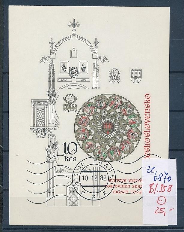 Tschechen Block  35 B   o (ze6870 ) siehe scan !