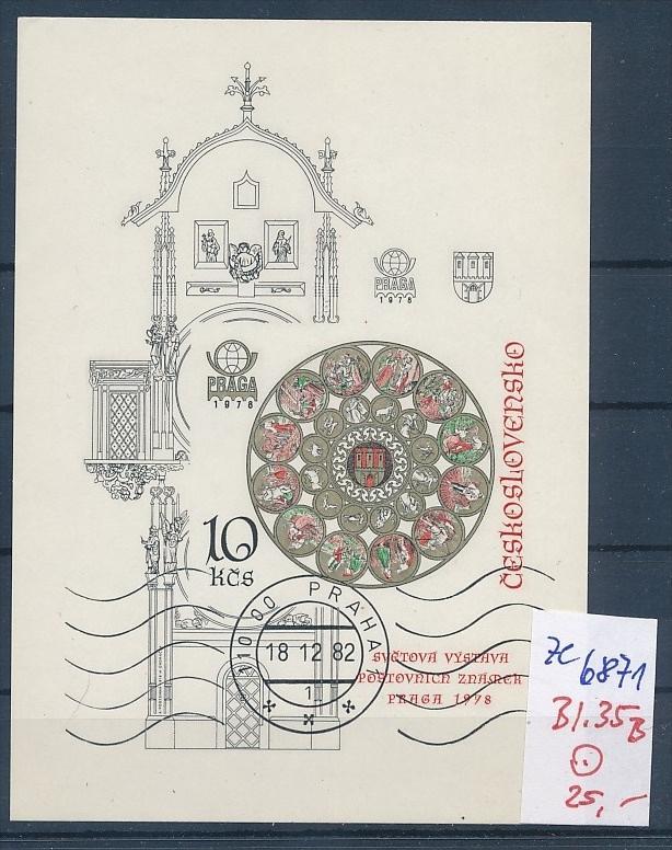 Tschechen Block  35 B   o (ze6871 ) siehe scan !