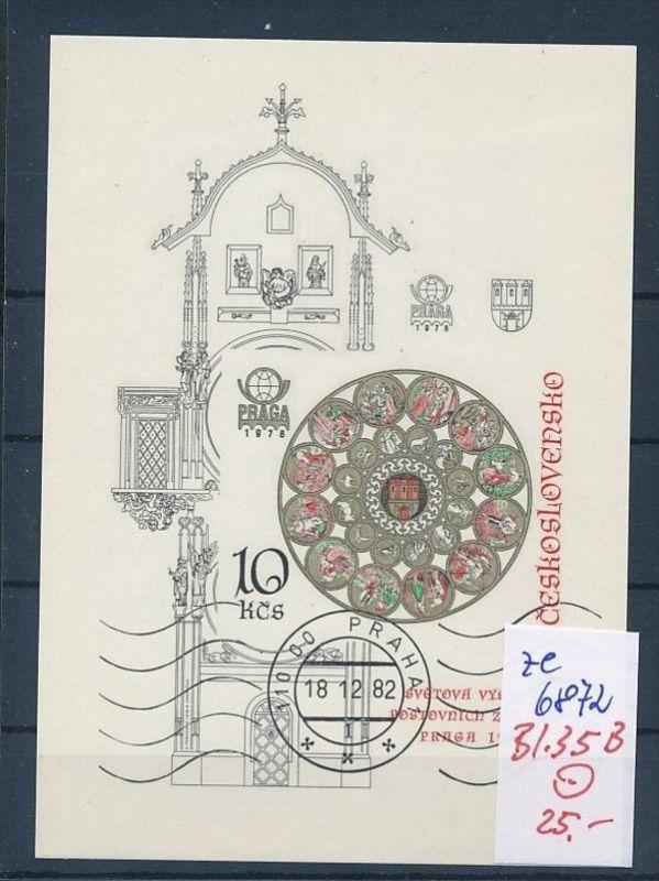 Tschechen Block  35 B   o (ze6872 ) siehe scan !