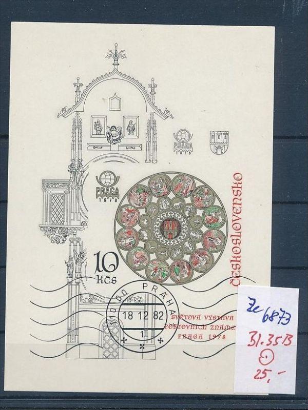Tschechen Block  35 B   o (ze6873 ) siehe scan !