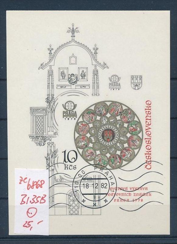 Tschechen Block  35 B   o (ze6868 ) siehe scan !