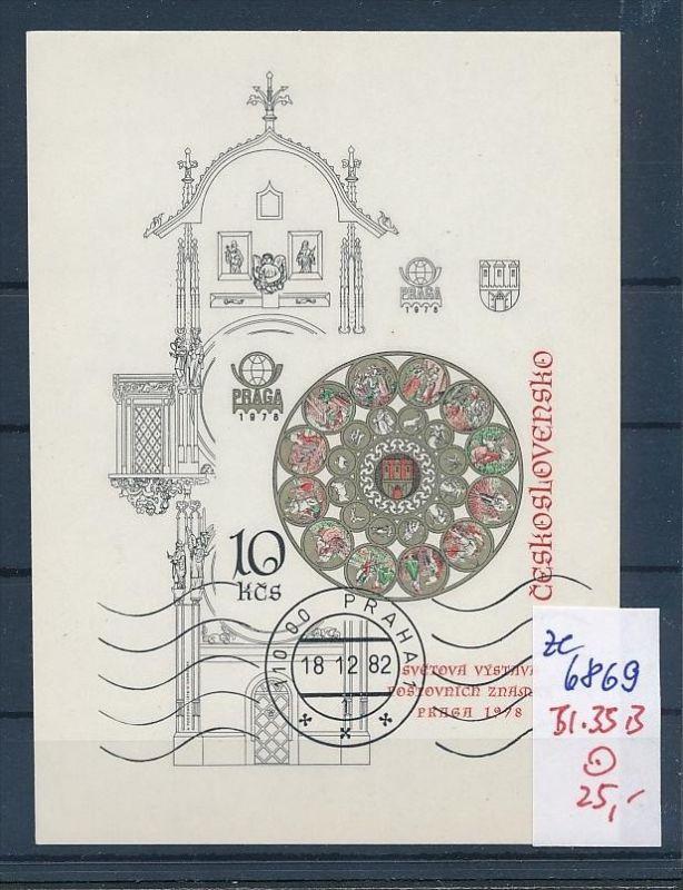 Tschechen Block  35 B   o (ze6869 ) siehe scan !