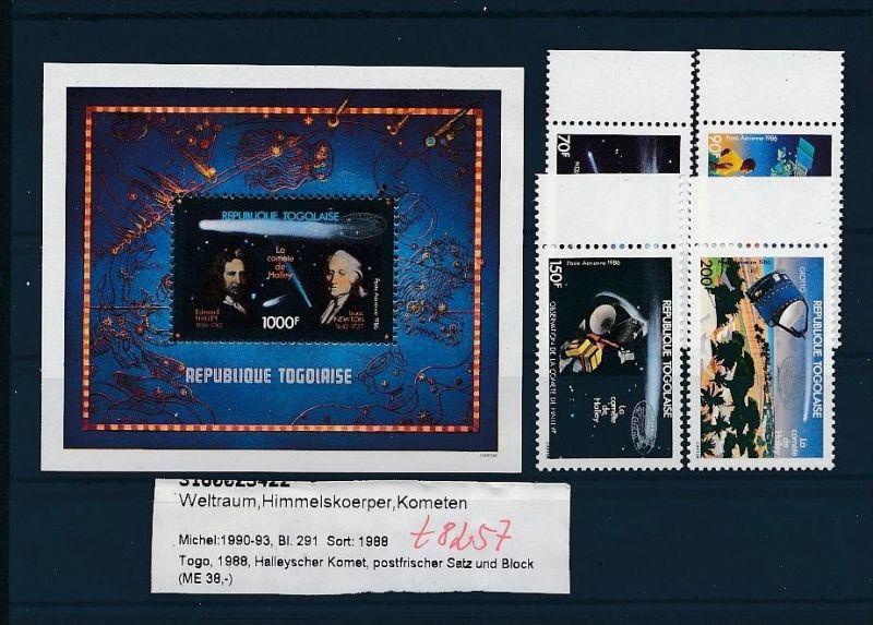Kosmos - Togo   Block  291  + Satz **  (t8257   ) siehe scan !