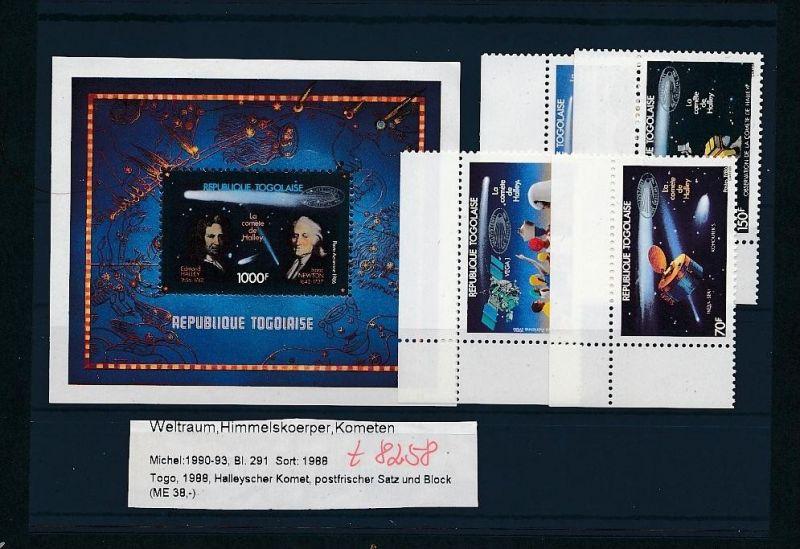 Kosmos - Togo   Block  291  + Satz **  (t8258   ) siehe scan !
