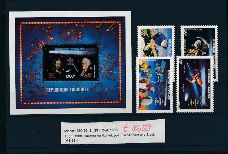 Kosmos - Togo   Block  291  + Satz **  (t8259   ) siehe scan !