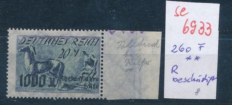 D.-Reich Nr. 260  F** ...  (se6933   ) siehe scan !