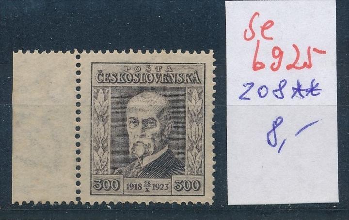 Tschechen  Nr. 208  **  (se6925 ) Zonen Nr. 108-10     o    (se6921   ) siehe scan !