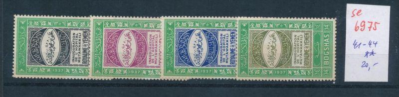 Jemen Nr. 41-44  **  (se6975 ) Zonen Nr. 108-10     o    (se6921   ) siehe scan !