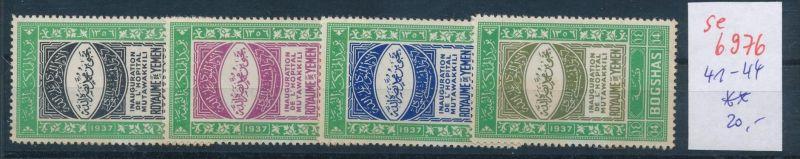 Jemen Nr. 41-44  **  (se6976 ) Zonen Nr. 108-10     o    (se6921   ) siehe scan !