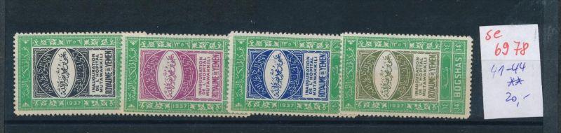 Jemen Nr. 41-44  **  (se6978 ) Zonen Nr. 108-10     o    (se6921   ) siehe scan !
