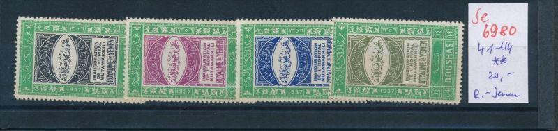 Jemen Nr. 41-44  **  (se6980 ) Zonen Nr. 108-10     o    (se6921   ) siehe scan !