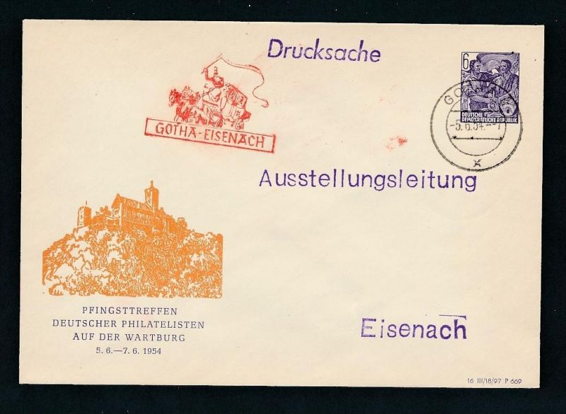 DDR  seltene PP-Ganzsache -aus altem Händlerlager  ( t8542  ) siehe scan !