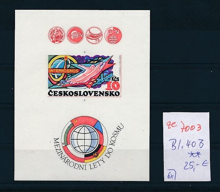 Tschechen Block  40 B   ** ( ze7003  ) siehe scan !