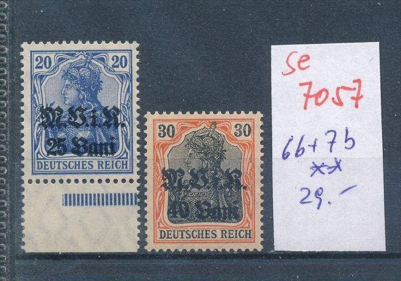 D.-Post Rumänien Nr  6b+7b **    (se7057   ) siehe scan !