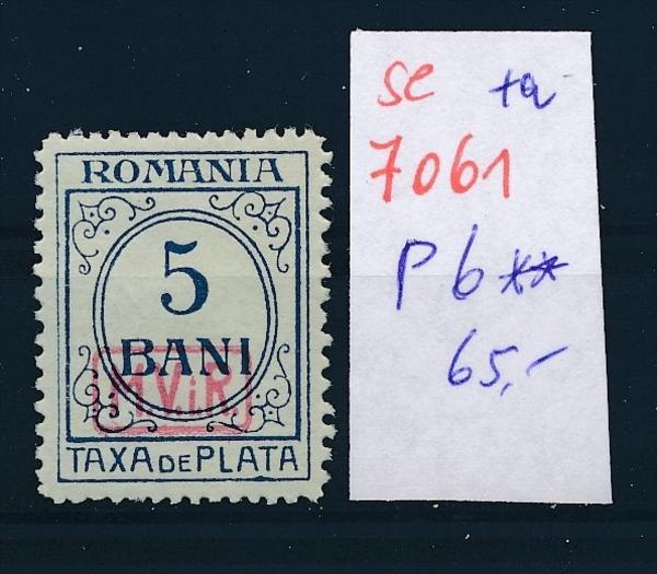 D.-Post Rumänien Nr  P 6  **    (se7061   ) siehe scan !