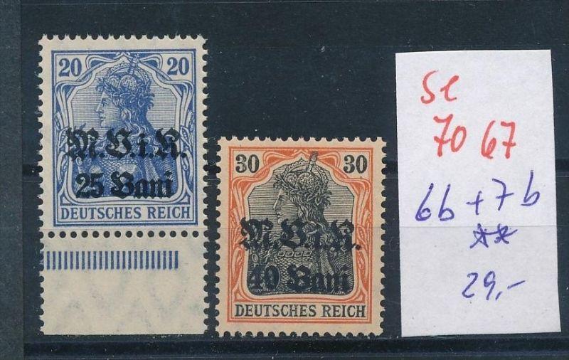 D.-Post Rumänien Nr 6b+7b **    (se7067   ) siehe scan !