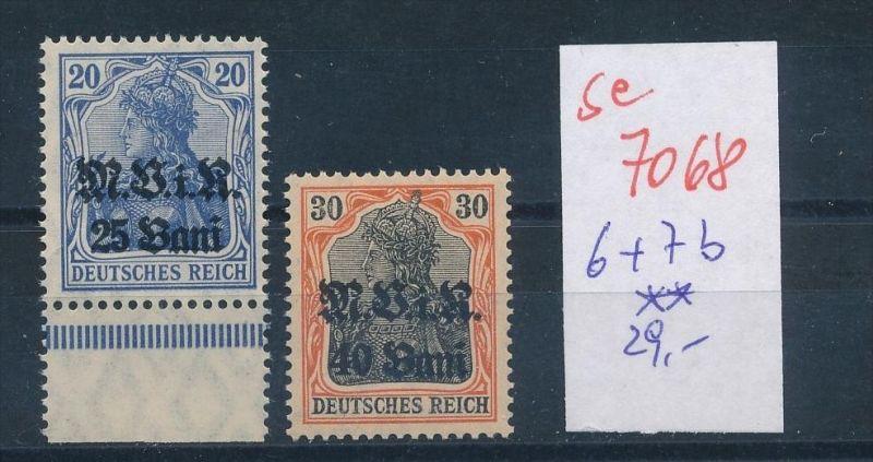 D.-Post Rumänien Nr 6b+7b **    (se7068   ) siehe scan !