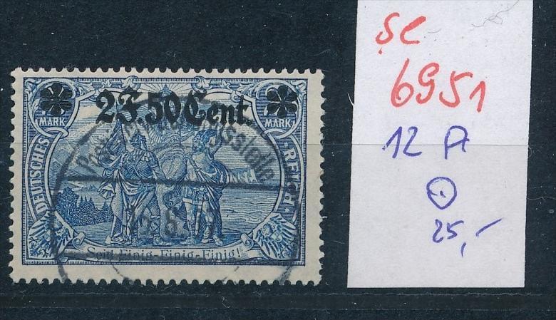 D.-Post in Belgien Nr. 12 A   o   (se6951    ) siehe scan !