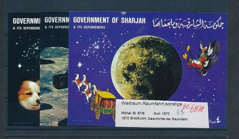 Sharajah  Block67+69     **( ze6978  ) siehe scan !
