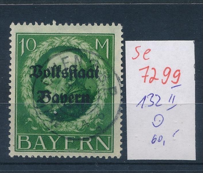 Bayern   Nr. 132 II   o    (se 7299 ) siehe Bild