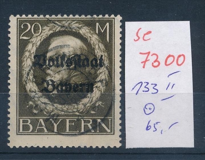 Bayern   Nr. 133 II   o    (se 7300 ) siehe Bild