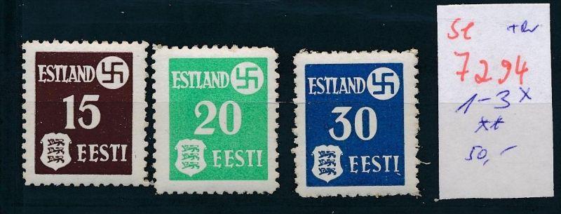 Estland Nr. 1-3 x ** üblicher Gummi    (se 7294 ) siehe Bild