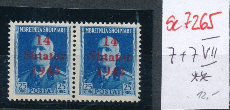 Bes.-Albanien Nr. 7+7III  **( se7265  ) siehe scan !