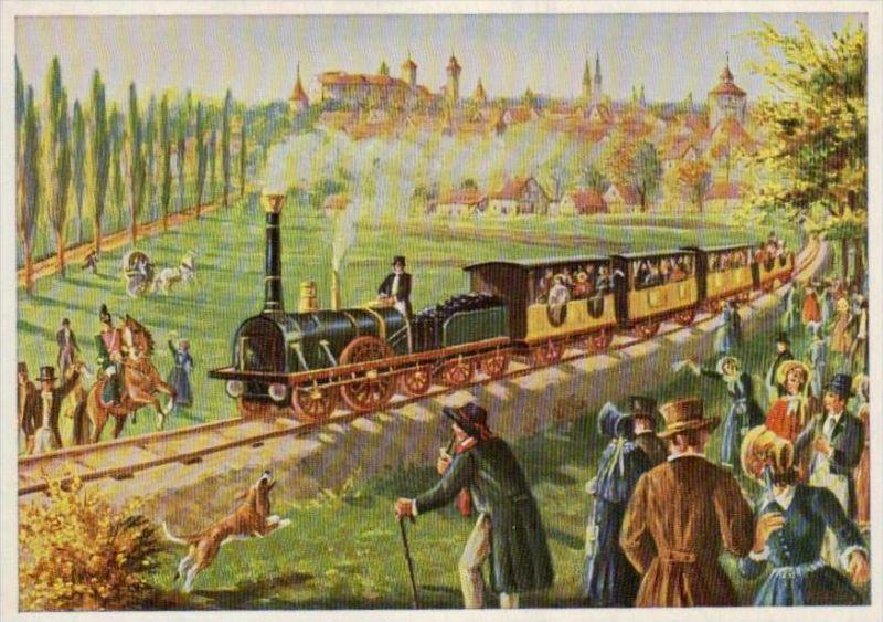 Erste deutsche Eisenbahn  Karte  ( ka993 ) siehe scan !