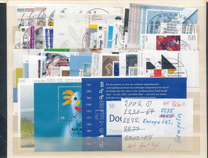 BRD Top-Lot  2002 super Stempel-DISCOUNT  ( ze7261  ) siehe scan !