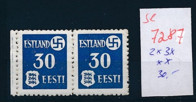 Estland  2X 3 x ** (se 7287 ) siehe Bild