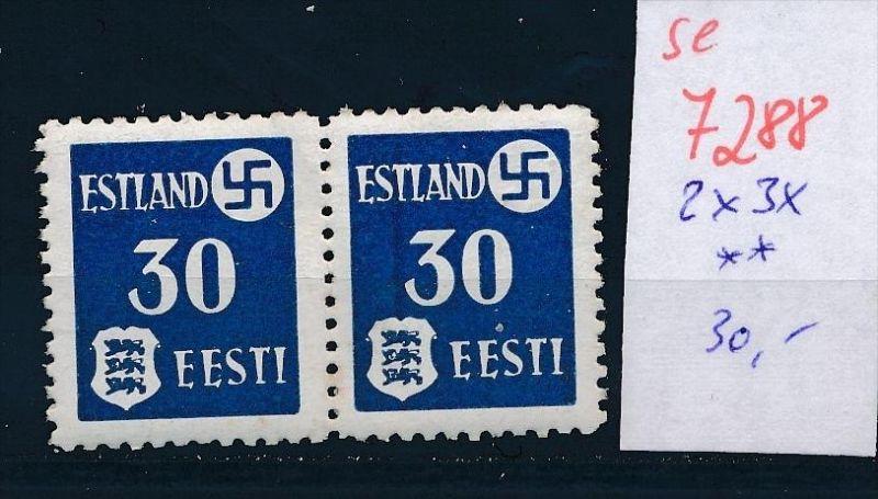 Estland  2X 3 x ** (se 7288 ) siehe Bild