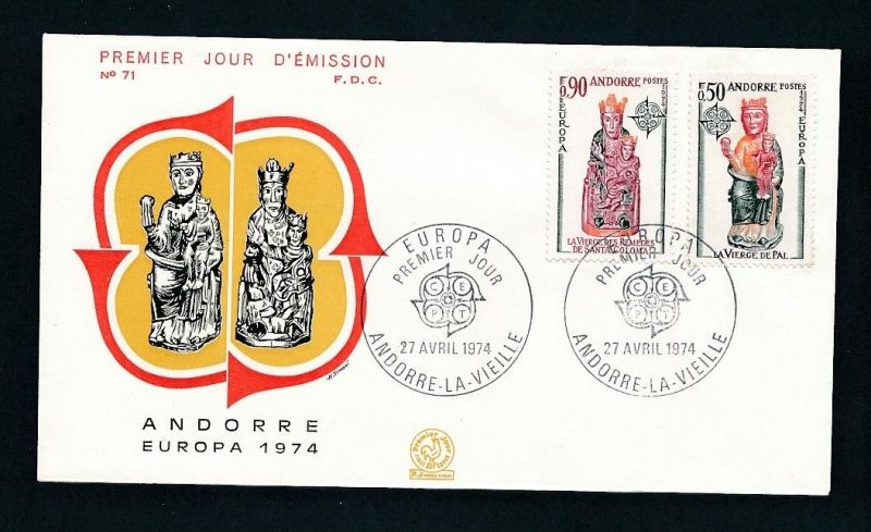 CEPT-FDC  Andorra 1974  ( t9049 ) siehe scan !