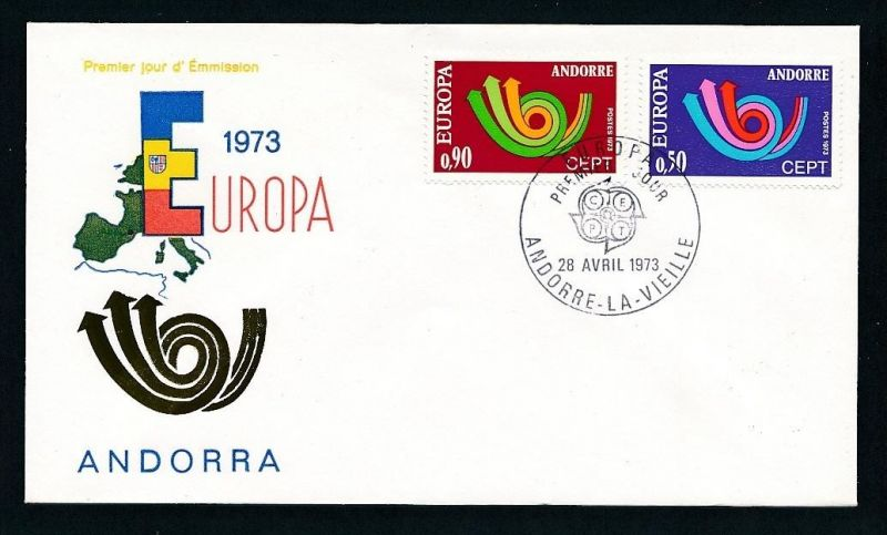 CEPT-FDC  Andorra 1973  ( t9050 ) siehe scan !