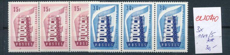 Frankreich Nr. 3x 1104-5  ** ( ee1040 ) siehe scan !