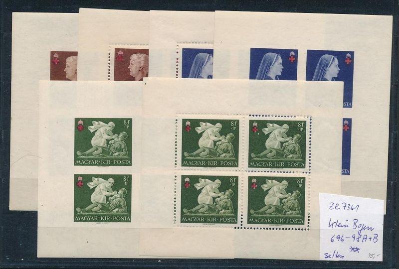 Ungarn  Klein Bogen 696-98 A+B  ** ( ze7361   ) siehe scan !