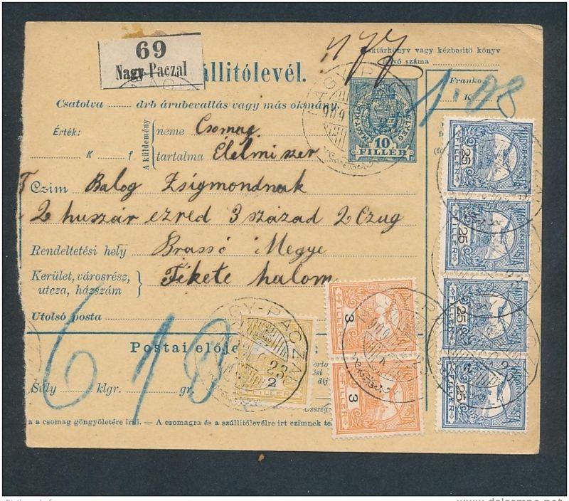 Ungarn Paket Karte  -netter  Beleg  ... ( t3968  ) siehe scan