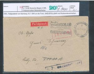 Feld Post Beleg    (t9100   ) siehe scan !