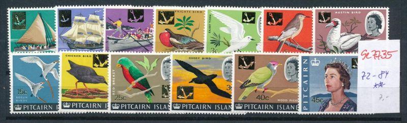 Pictarien Inseln  Nr. 72-84  * *  (se7735  ) siehe scan !