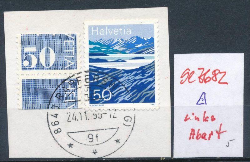 Schweiz o-linke Marke Abart   ( se7682 ) siehe scan !