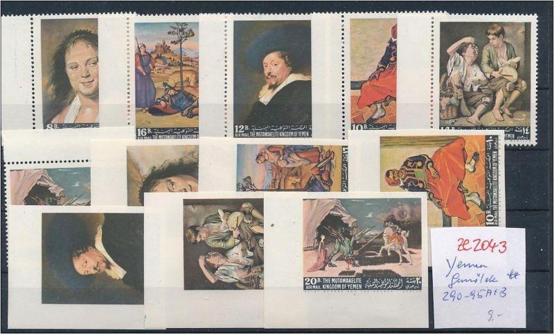 Jemen  Lot Gemälde ** gezähnt+ geschnitten     (ze2043  )  siehe Bild
