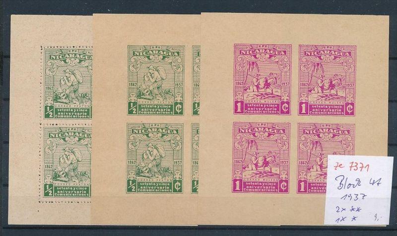 Nicaracua Block Lot 1937    ( ze7371 ) siehe scan !