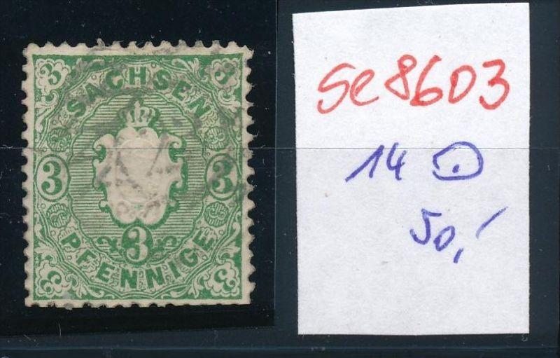 Sachsen  Nr. 14   o   (se8603 ) siehe Bild